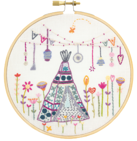 Gift Idea - Bohemian Teepee Embroidery Kit by Un Chat dans L'aiguille