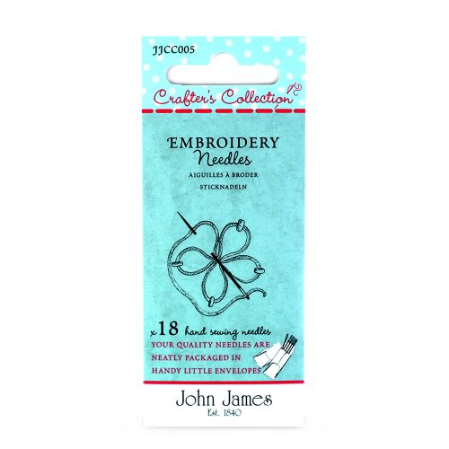 Embroidery needles by John James