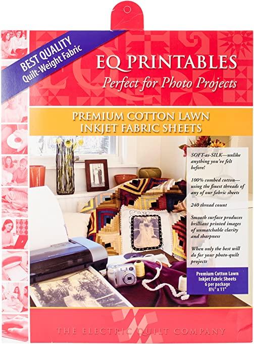 Electric Quilt - Premium Printable Cotton Lawn Fabric Sheets
