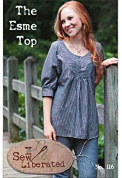 Sew Liberated - The Esme Top - U.S Sizes 2- 20 - Ladies Sewing Pattern - Dressmaking