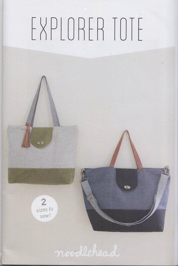 Noodlehead - Explorer Tote - Bag Sewing Pattern - Complete Pattern