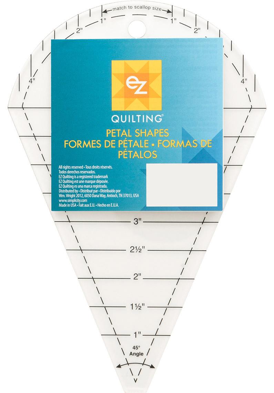 Ez Quilting Petal Pattern Shapes Ruler Dresden Plate