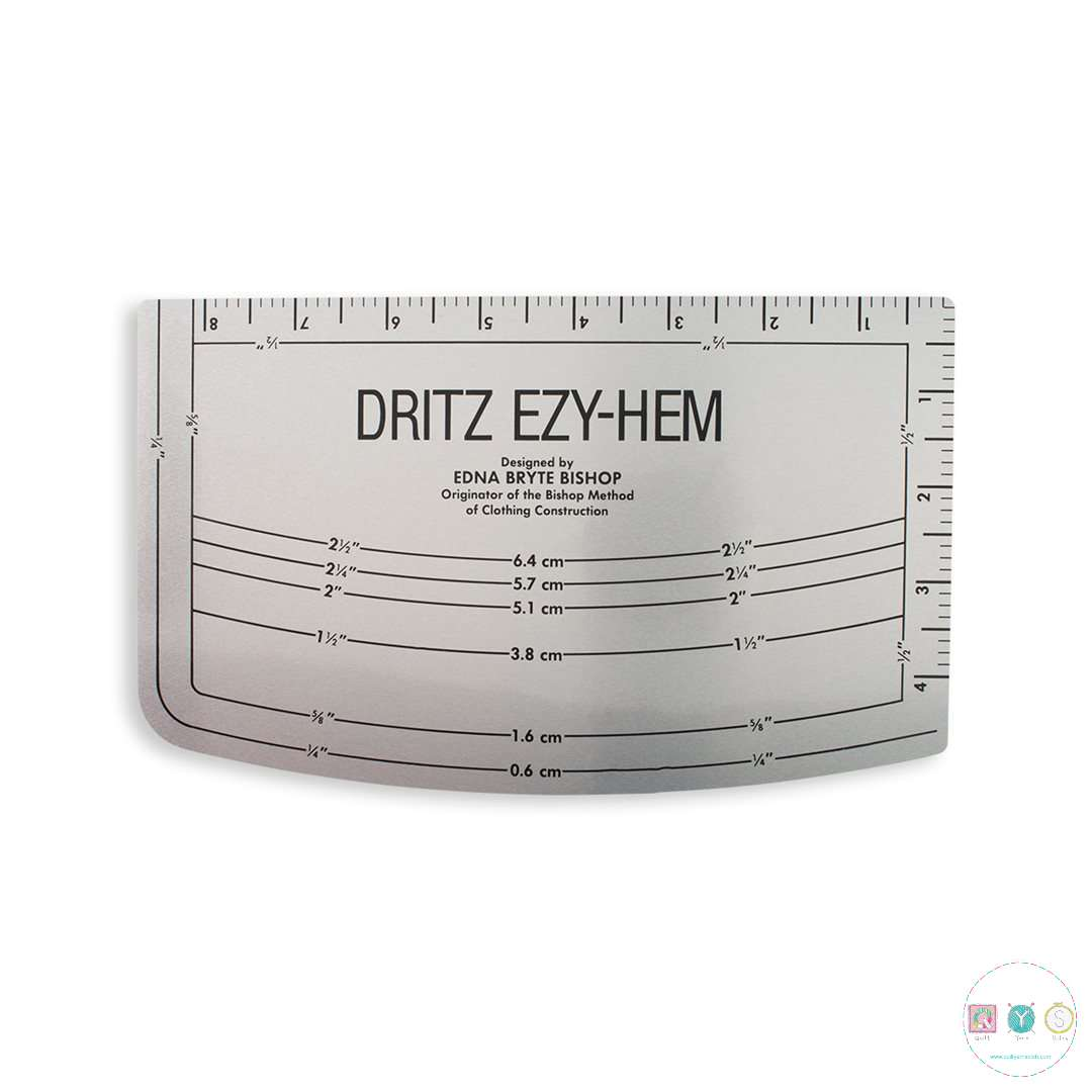 Dritz Ezy-hem Gauge - with Metric Measurements - Sewing Accessory - Dressmaking Tools