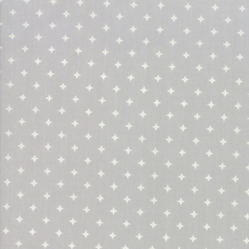 Christmas Fabric with a Diamond Style Star Like Dot on Grey from the Country Christmas Collection by Bunny Hill Designs for Moda