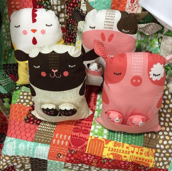 Farm Fun Animal Childrens Fabric Panel By Stacy Iest Hsu For Moda