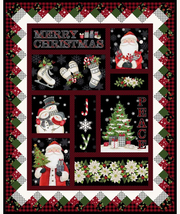 Farmhouse Christmas Panel by Northcott Fabrics