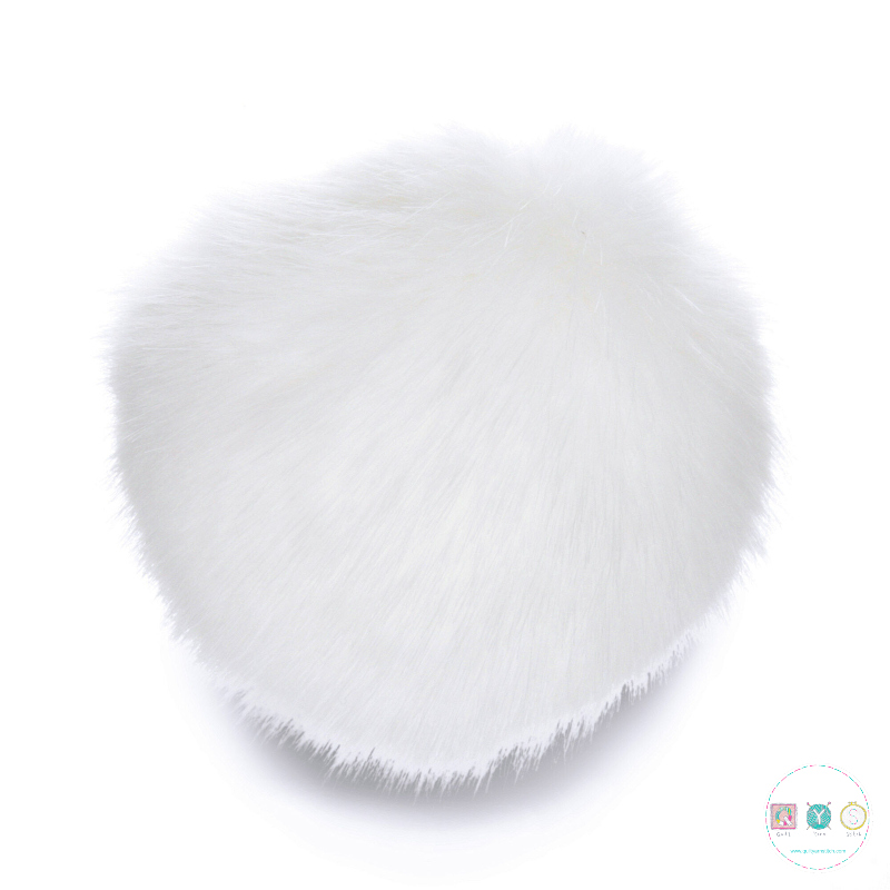 Sew Cool White Faux Fur Pompom - Hat Bobble