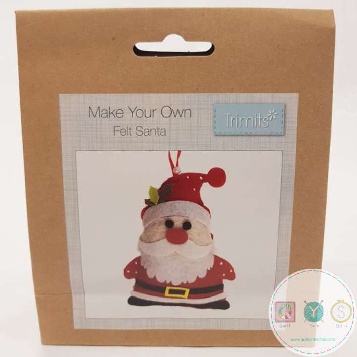 make your own felt santa christmas tree decoration beginners festive crafty childrens kit