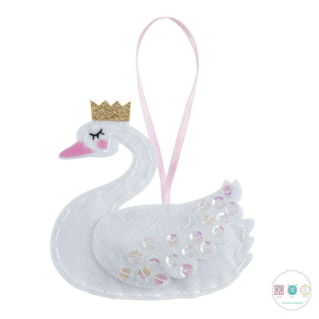 Gift Idea - Make Your Own Felt Swan Kit by Trimits