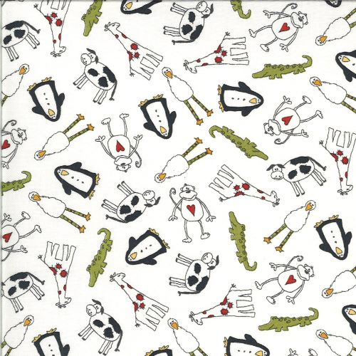 Flannel Fabric - Animal Crackers by Sweetwater for Moda Fabrics