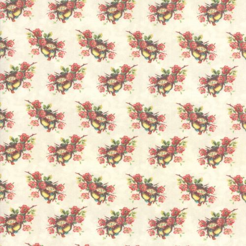 Birds and Nests Quilting Fabric from the Flea Market Mix Collection by Cathe Holden for Moda Fabrics