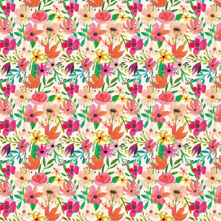 Floral - Forest Friends by Blend Fabrics