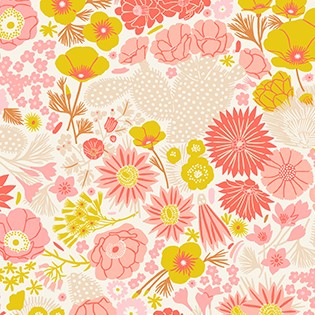 Quilting Fabric - Floral from Prickly Pear by Figo Fabrics