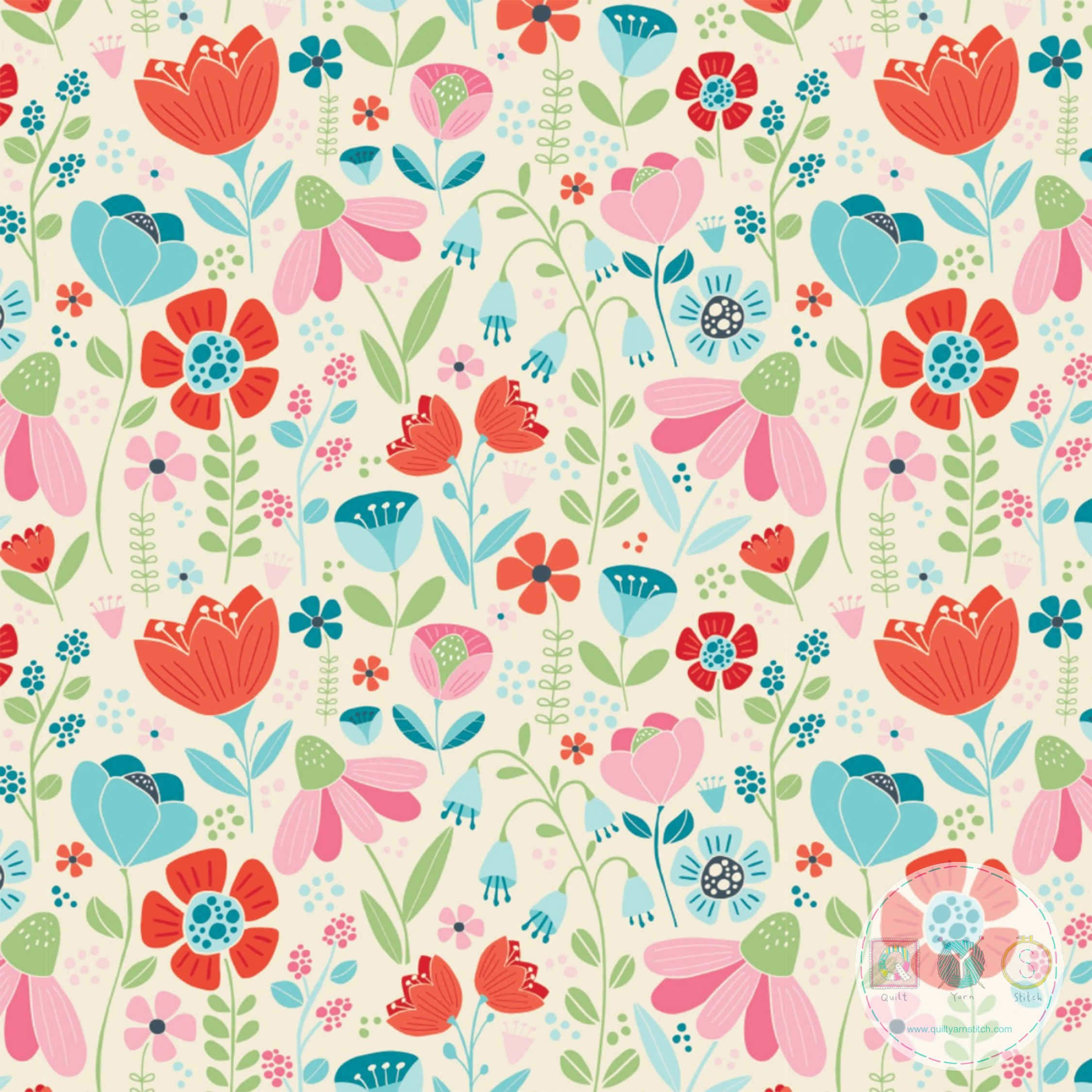 Camelot Fabrics - Enchanted Blooms - Enchanted Forest - Patchwork & Quilting
