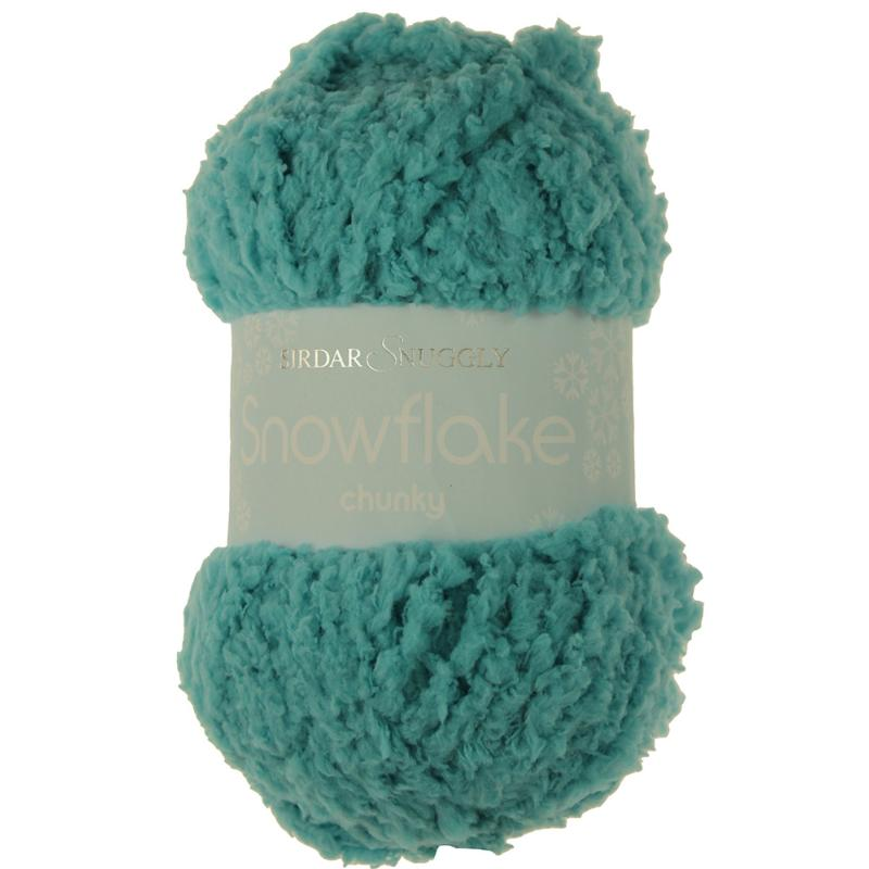 Snowflake Chunky Wool by Sirdar - Foamy Teal Blue Yarn 717