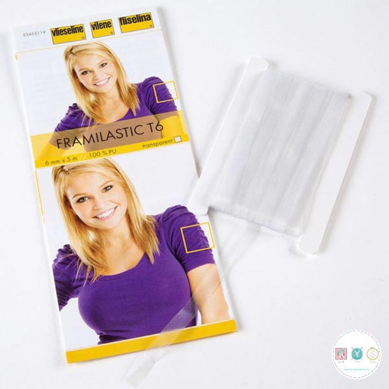 Vlieseline - Vilene Framilastic T6 - PU Transparent Elastic Tape - Dressmaking - Sundries