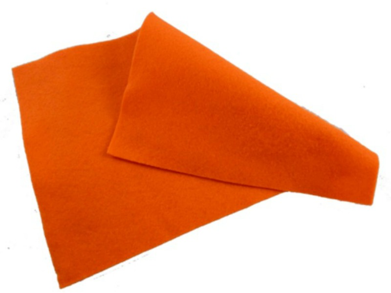 Orange Felt Sheet  - 12