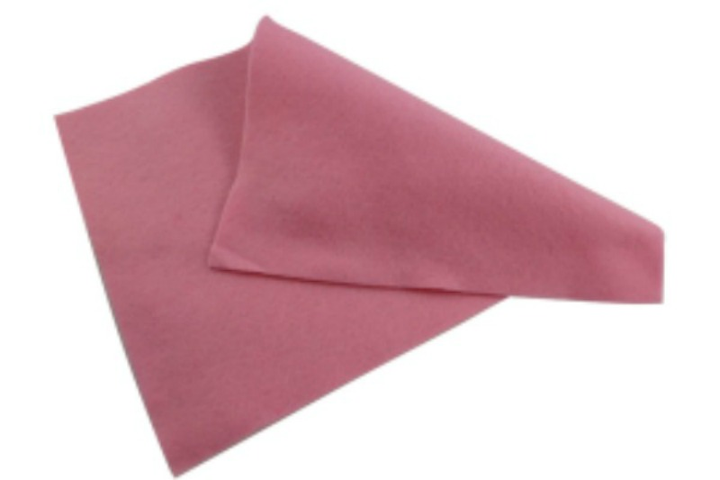 Mid Pink Felt Sheet  - 12