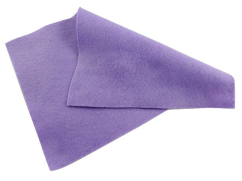 Lilac Purple Felt Sheet - 12