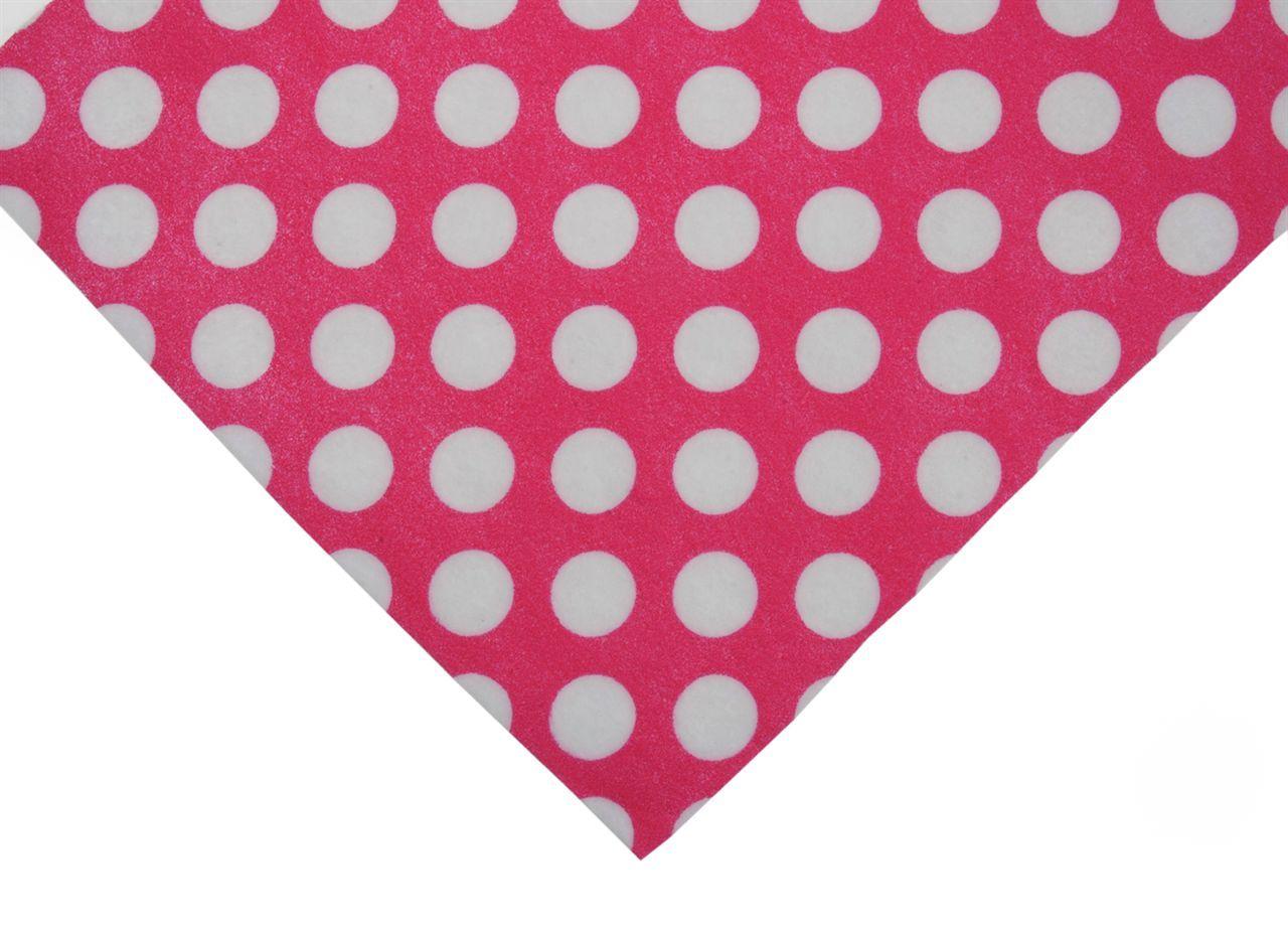 Felt - Spotty Pink  - A4 size - Crafting Felt