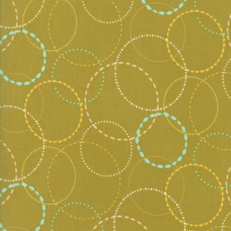 Wing & Leaf Green Circles by Gina Martin for Moda - Patchwork & Quilting
