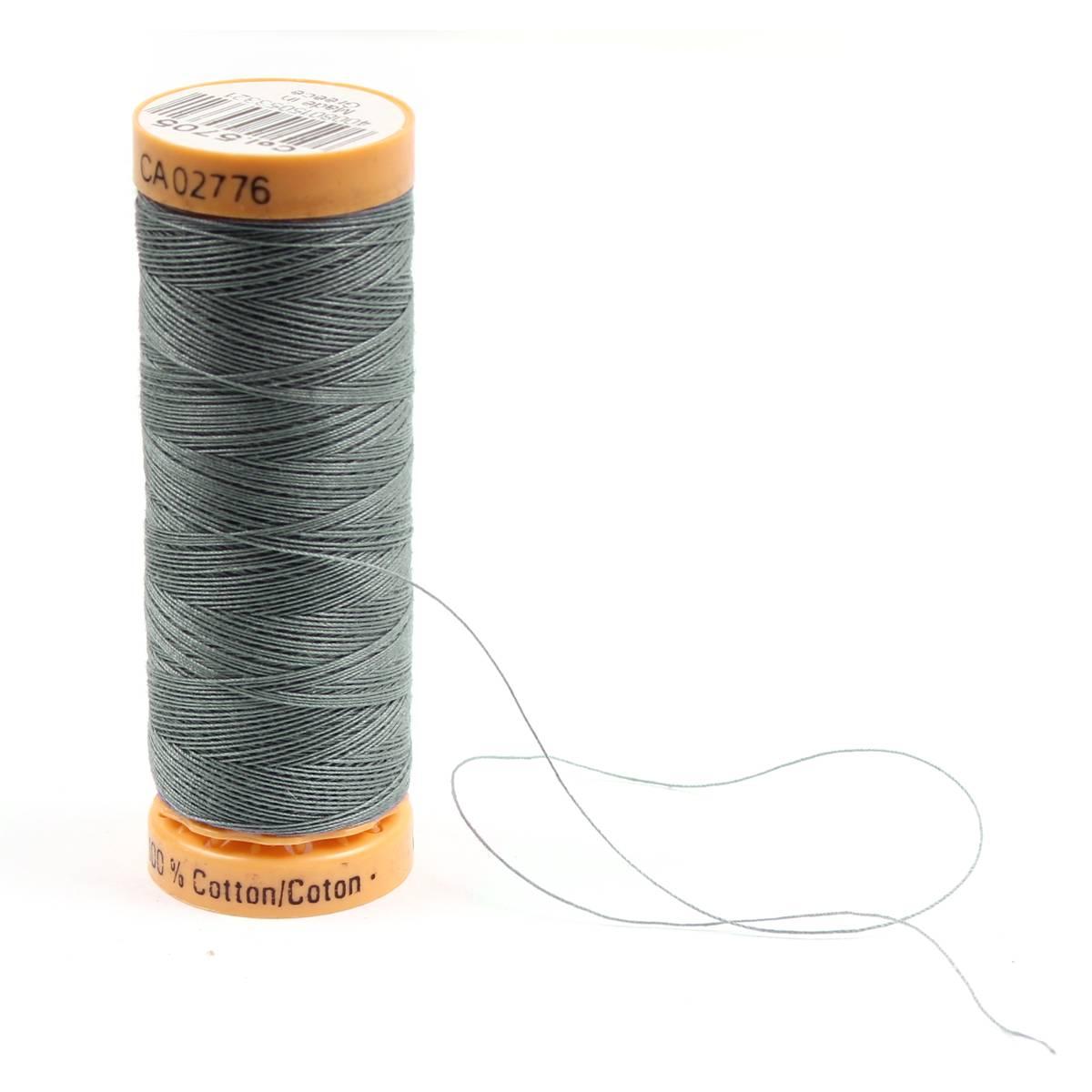 Gutermann Grey Thread G5705 - 100% Cotton - 50wt - Sewing Thread - All Purpose - Domestic