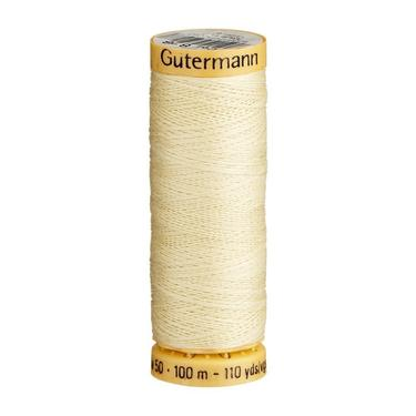 Gutermann Light Beige Thread G828 - 100% Cotton - 50wt - Sewing Thread - All Purpose - Domestic