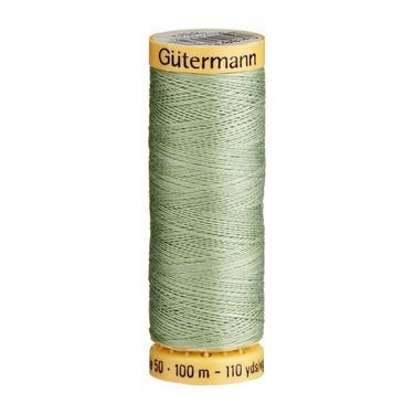 Gutermann Green Thread G8816 - 100% Cotton - 50wt - Sewing Thread - All Purpose - Domestic
