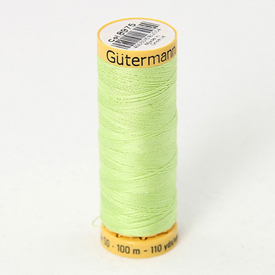 Gutermann Green Thread G8975 - 100% Cotton - 50wt - Sewing Thread - All Purpose - Domestic