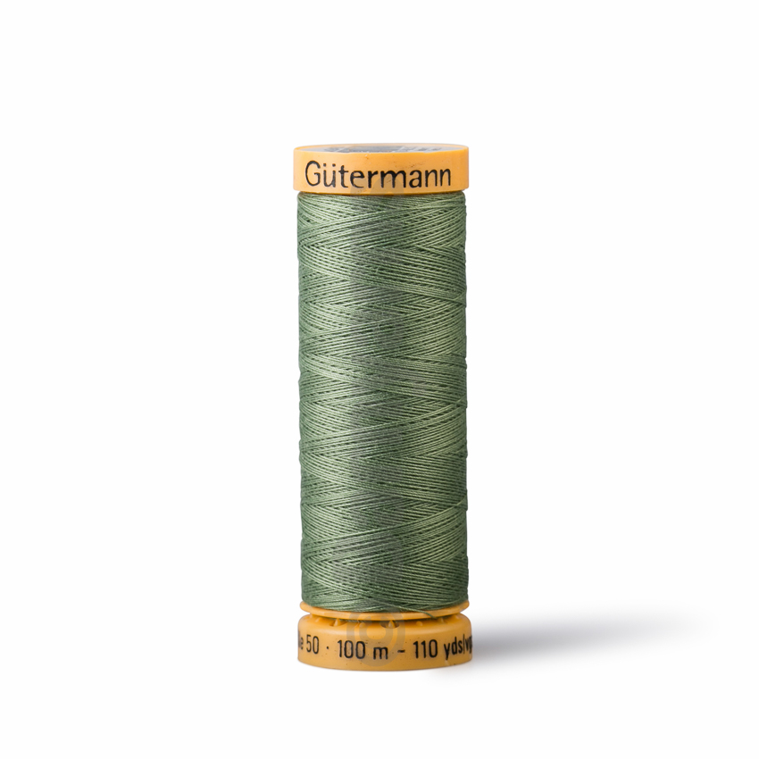 Gutermann Green Thread G9426 - 100% Cotton - 50wt - Sewing Thread - All Purpose - Domestic