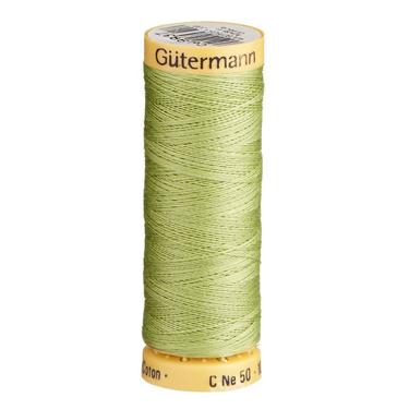 Gutermann Green Thread G9837 - 100% Cotton - 50wt - Sewing Thread - All Purpose - Domestic