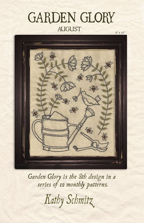 Garden Glory Embroidery Pattern