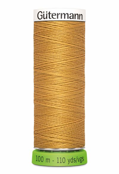 Gutermann Sew All Thread - Golden Brown Recycled Polyester rPET Colour 968