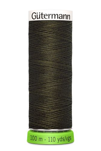 Gutermann Sew All Thread - Green Brown Recycled Polyester rPET Colour 531