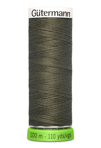 Gutermann Sew All Thread - Green Brown Recycled Polyester rPET Colour 676