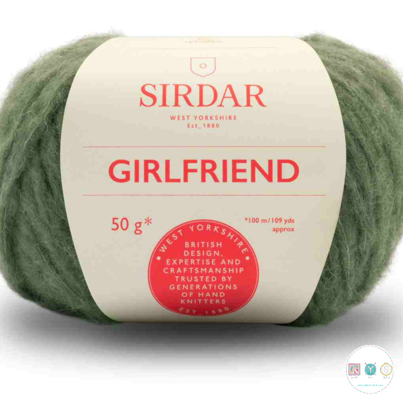 Sirdar Girlfriend 252 Green - Chunky Wool - Felted Yarn - Knitting & Crochet