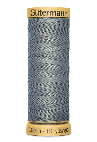 Gutermann Grey Thread G305 - 100% Cotton - 50wt - Sewing Thread - All Purpose - Domestic