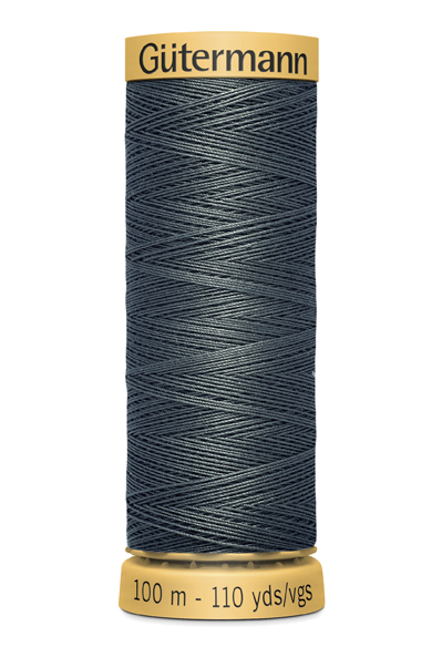 Gutermann Grey Thread G5104 - 100% Cotton - 50wt - Sewing Thread - All Purpose - Domestic