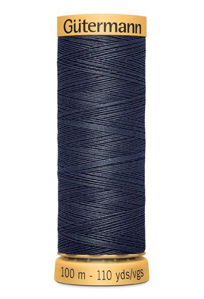 Gutermann Grey Thread G5413 - 100% Cotton - 50wt - Sewing Thread - All Purpose - Domestic
