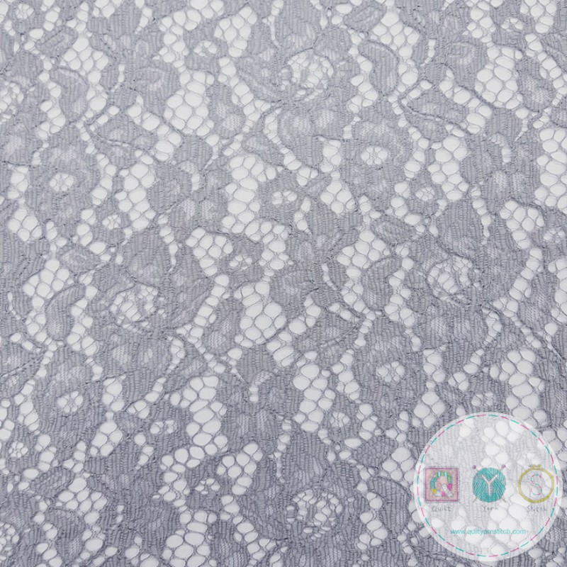 Silver Corded Lace - Bridal Dress Fabric - Decorative - Dressmaking