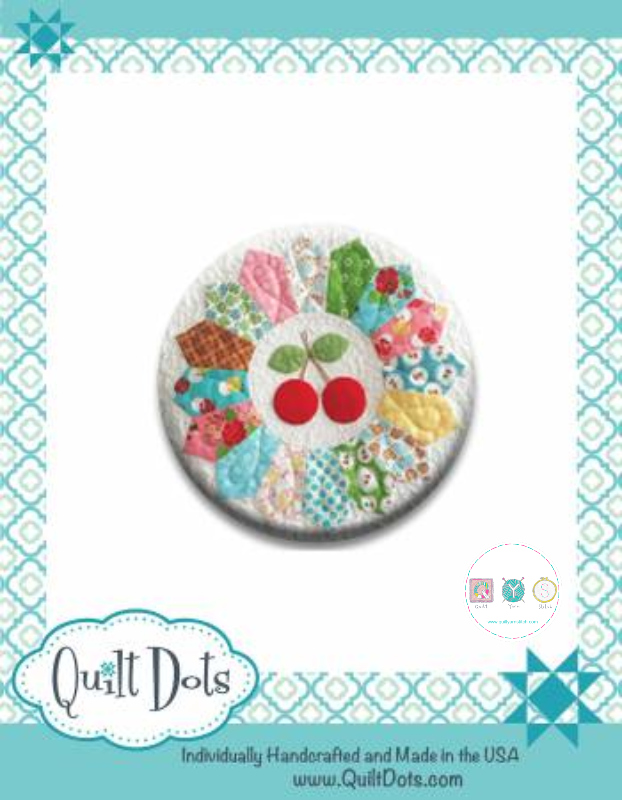 Gift Idea - Needle Nanny - Sew Cherry by Lori Holt - Zappy Dots Needle Keeper - Sewing Gift