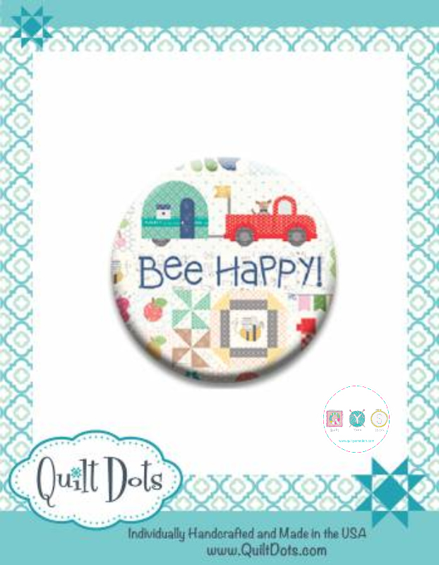 Needle Nanny - Bee Happy by Lori Holt - Zappy Dots Needle Keeper - Sewing Gift