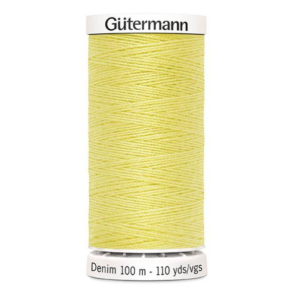 Gutermann Denim Thread - Pale Yellow Colour 1380