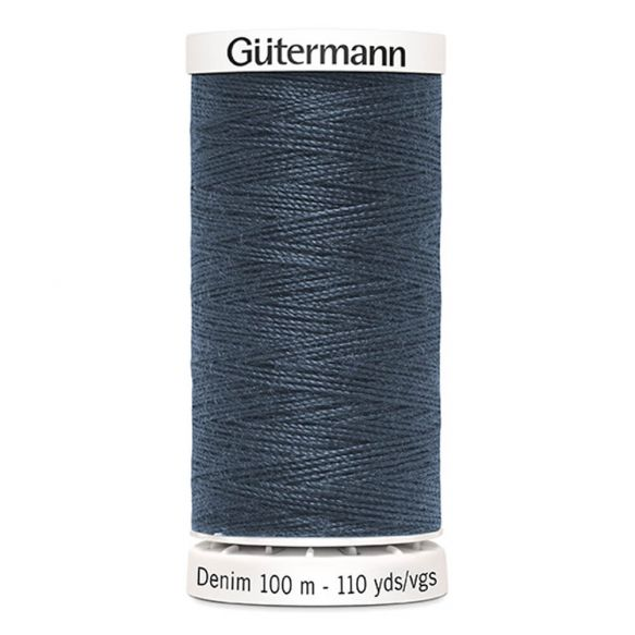 Gutermann Denim Thread - Dark Blue Grey 7635