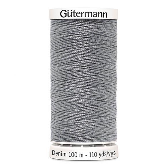 Med Grey Gutermann Denim Thread - Medium Grey 9625