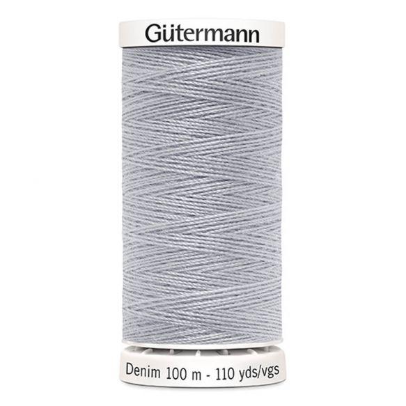 Silver Gutermann Denim Thread - Silver 9830