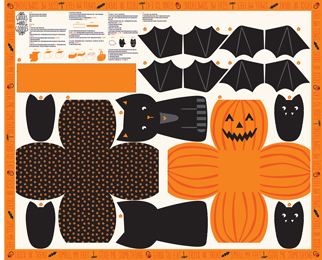 Halloween Fabric Panel from the Ghouls And Goodies Collection by Stacy lest Hsu for Moda