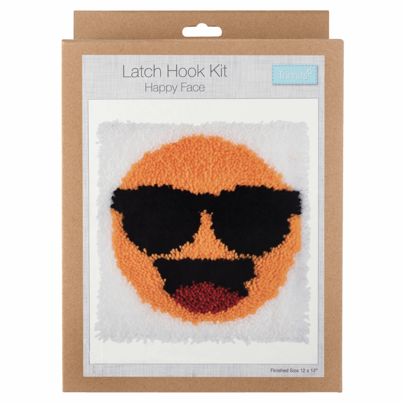 Gift Idea - Happy Face Emoji Latch Hook Kit
