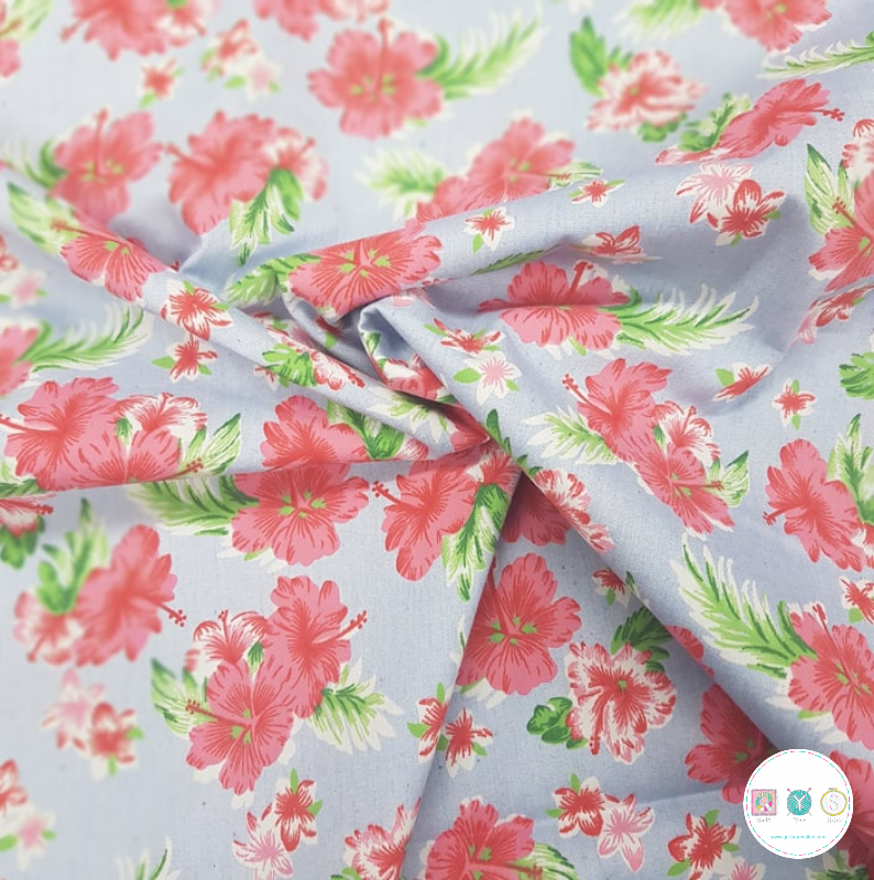 Hawaiian Floral - Cotton Fabric - Dressmaking