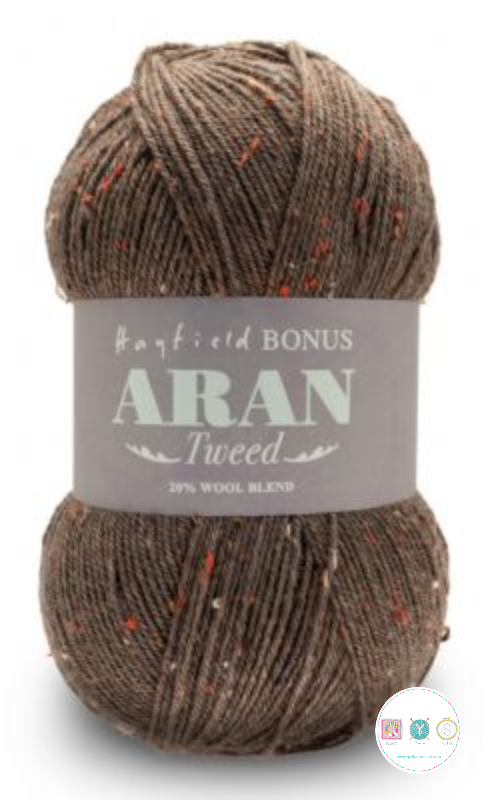 Hayfield Yarn - Aran Tweed Wool - Chestnut Brown 624